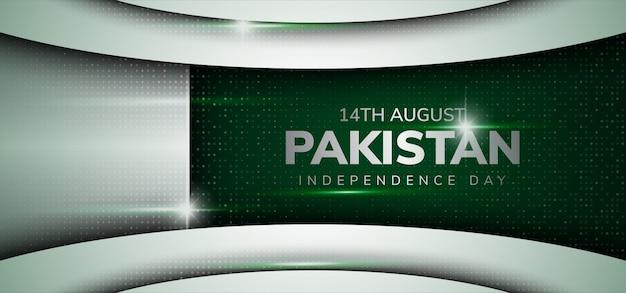 Fête de l'indépendance du pakistan avec un style de luxe