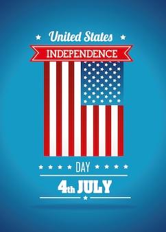 Fête de l'indépendance des états-unis, célébration du 4 juillet