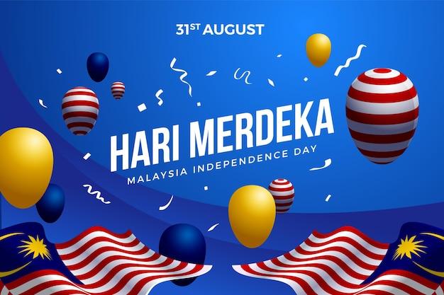 Fête de l'indépendance de la malaisie avec des ballons