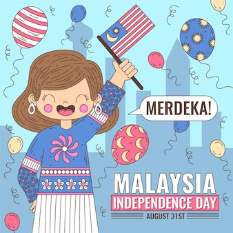 Fête de l'indépendance de merdeka malaisie