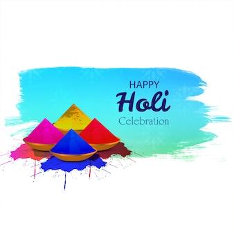 Fête indienne des couleurs avec gulal happy holi