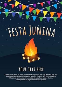 Fête de juin au brésil. fond de vacances latino-américaines.