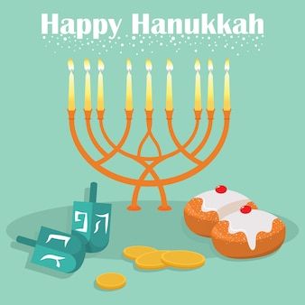 La fête juive de hanoukka.