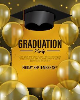 Fête de luxe pour célébrer l'obtention du diplôme