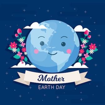 Fête des mères au design plat