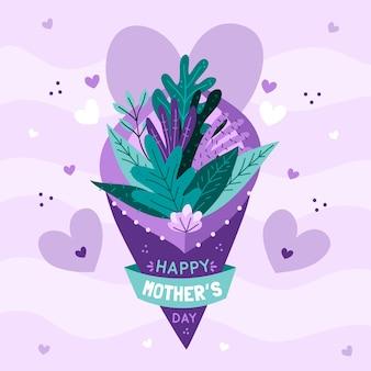 Fête des mères avec bouquet