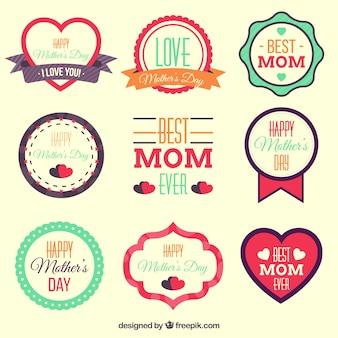Fête des mères étiquettes dessins