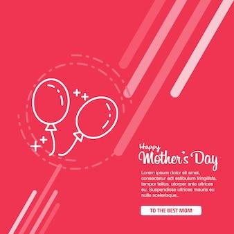 Fête des mères avec des fleurs de fleurs