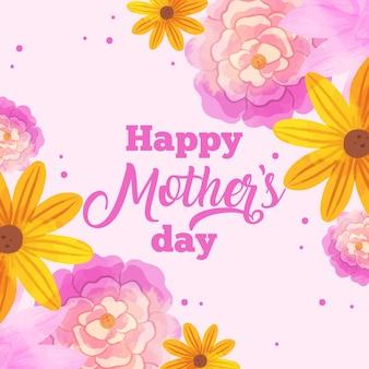 Fête des mères floral avec salutation
