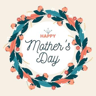 Fête des mères heureux floral
