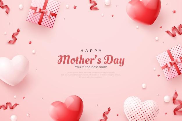 Fête des mères avec un joli concept de couleur rose.