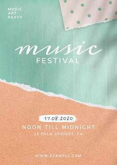 Fête De La Musique De Midi à Minuit Vecteur gratuit