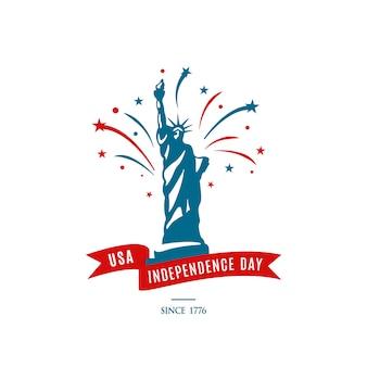 Fête nationale américaine le 4 juillet. jour de l'indépendance des etats-unis.