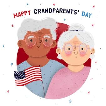 Fête nationale des grands-parents dessinés à la main