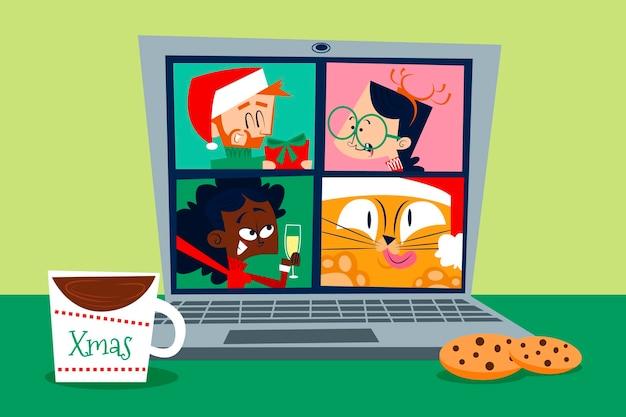 Fête de noël en ligne