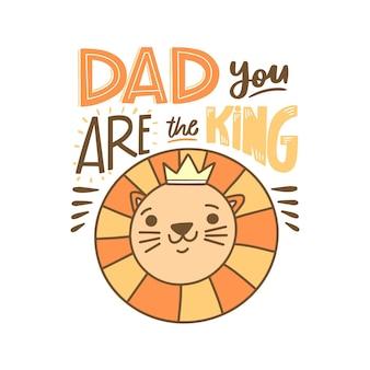 Fête des pères avec couronne