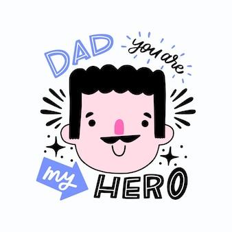 Fête des pères dessinés à la main