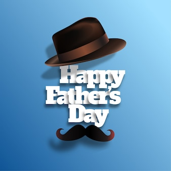 Fête des pères heureux avec un chapeau réaliste
