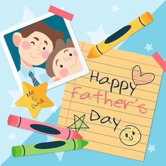 Fête des pères heureux avec message