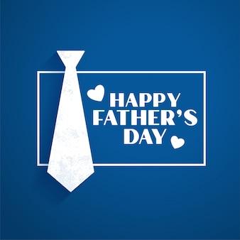 Fête des pères heureux style plat bleu
