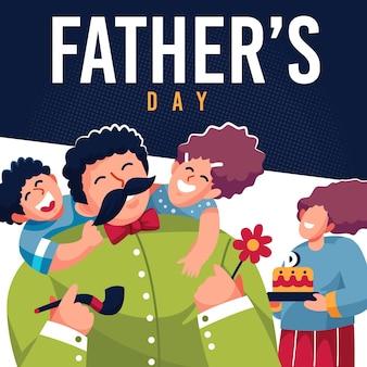 Fête des pères illustrée