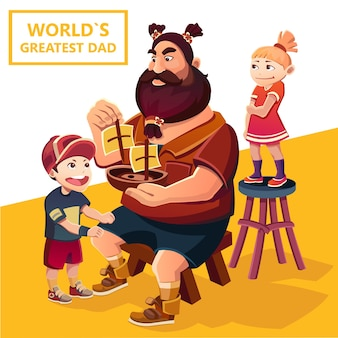 Fête des pères. jour des grands-parents. père et enfants
