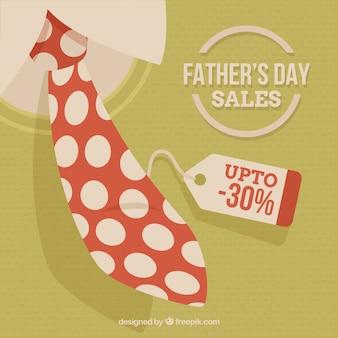 Fête des pères modèle de vente avec une cravate blanche à pois