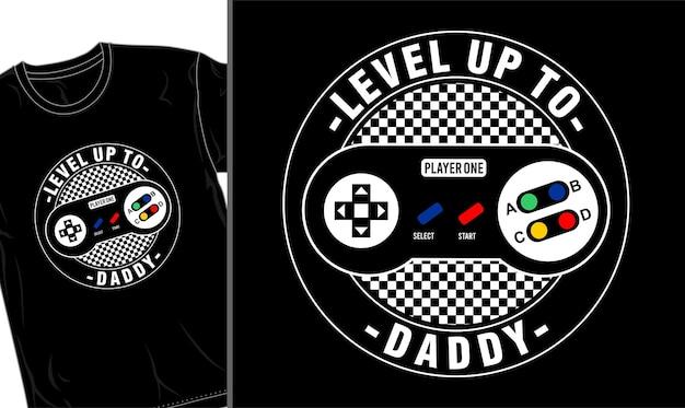 Fête des pères papa t shirt design vecteur graphique