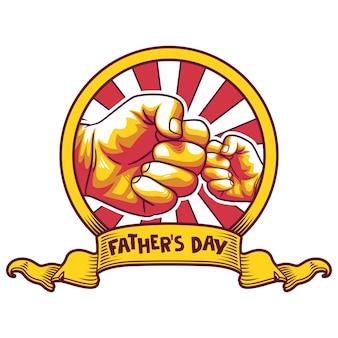 Fête des pères. salutations et cadeaux pour la fête des pères