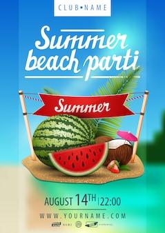 Fête de plage d'été