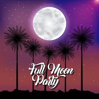 Fête de la pleine lune été
