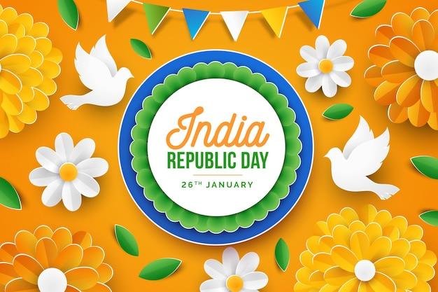 Fête de la république indienne en papier