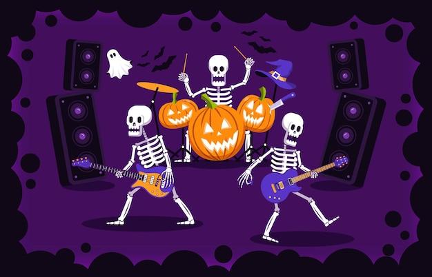 Fête de rock d'halloween