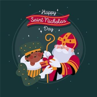Fête de la saint-nicolas illustrée