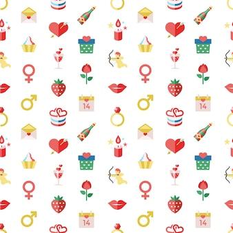 Fête de la saint-valentin joyeux vecteur numérique février et couleur de célébration de mariage simple plat ic