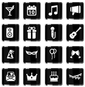 Fête simplement symbole pour les icônes web