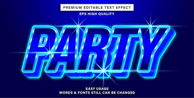 Fête de style effet de texte modifiable