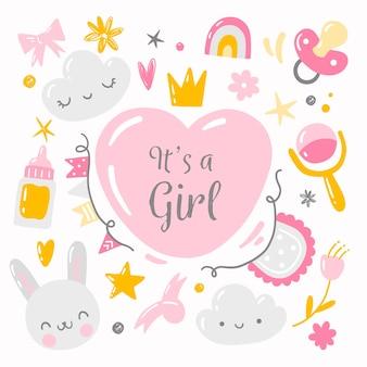 Fête surprise de baby shower pour fille