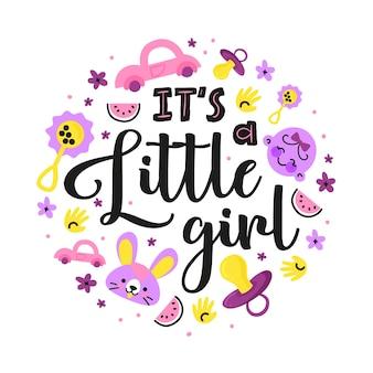Fête surprise de baby shower pour petite fille