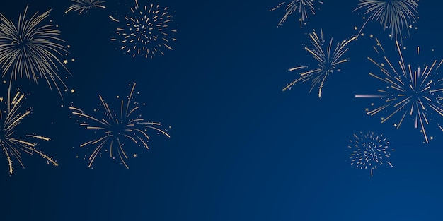 Feu d'artifice et fête de célébration sur le thème de noël 2022 conception de fond de bonne année.