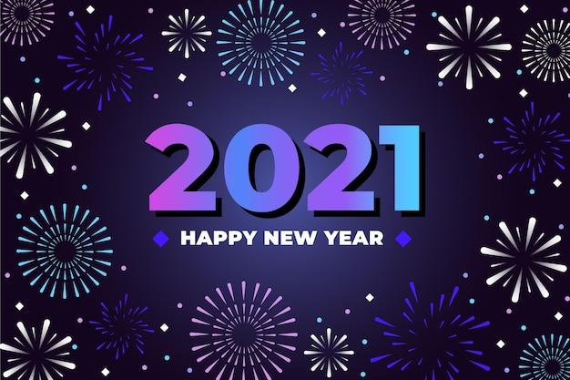 Feu d'artifice nouvel an 2021