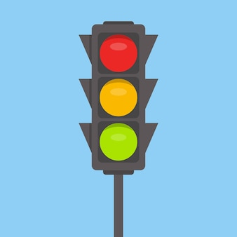 Feu de circulation. feux verts, jaunes, rouges
