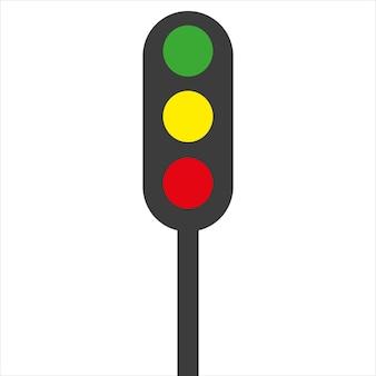 Feu de circulation sur fond blanc illustration vectorielle