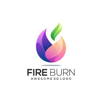 Feu coloré logo illustration résumé