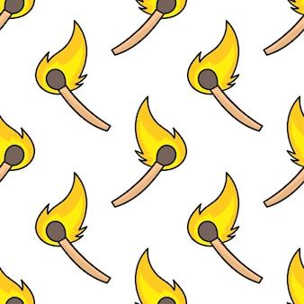 Le feu correspond à l'impression textile sans couture. idéal pour le tissu vintage d'été, le scrapbooking, le papier peint, les emballages cadeaux. motif de répétition de la conception de fond