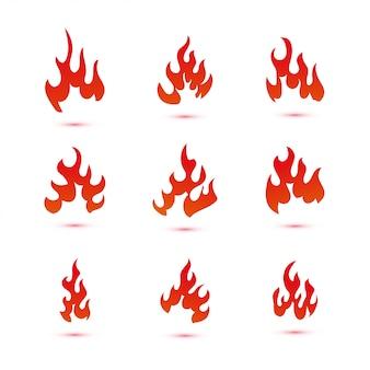 Le feu et les flammes