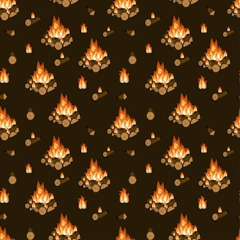 Feu de joie, bois de chauffage et flammes