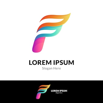 Feu lettre f logo
