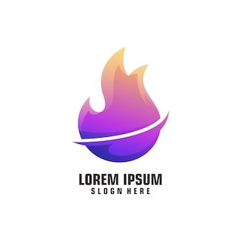 Feu logo illustration dégradé coloré