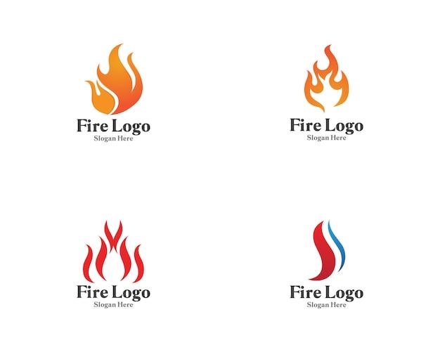 Feu logo symbole vecteur gaz et huile